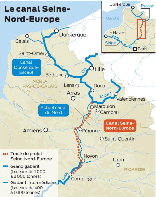 tracé du canal seine-nord